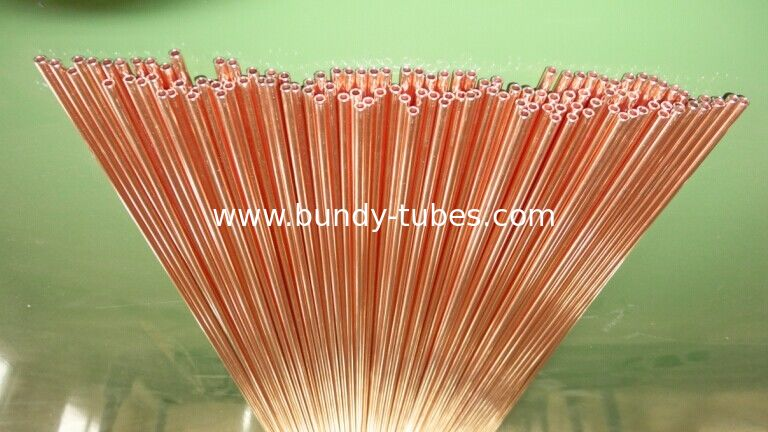 3.18 * 0.5mm Coating Copper Compressor Tubes Pass ISO14001